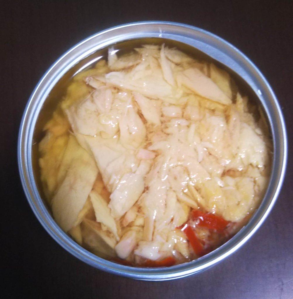 唐辛子入りのツナ缶