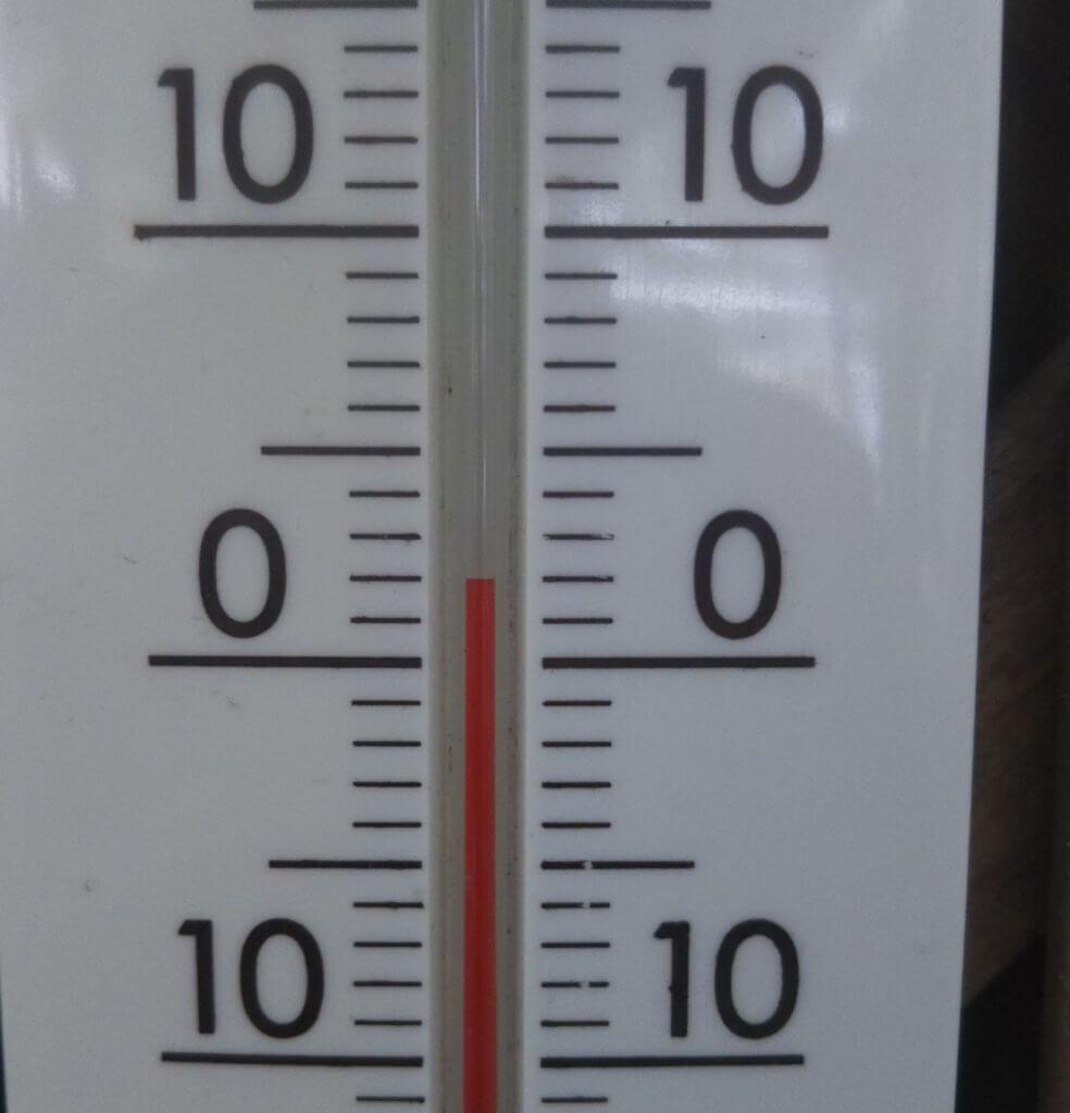 キツネ村の冬の気温